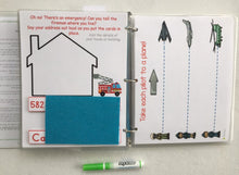 Airplane Themed Custom Dry Erase Activity Book, Personalized, Busy Book, Quiet Book
