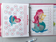 Mermaid Themed Custom Dry Erase Activity Book, Personalized, Busy Book, Quiet Book