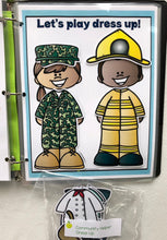 Dress up dolls busy book page, busy binder, morning work, homeschool