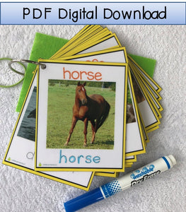 Digital Download Real Life Pictures Animal Flash Cards, tracing cards, montessori animal cards, preschool