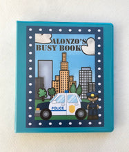 Police Themed Custom Dry Erase Activity Book, Personalized, Busy Book, Quiet Book