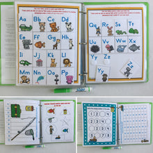 Fishing Personalized Busy Book, Quiet Book, Dry Erase, hands on learning