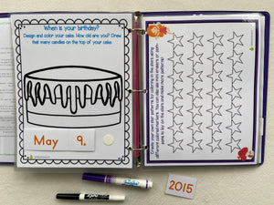 PreK Custom Dry Erase Activity Book, assorted themes, Personalized, Busy Book