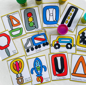 Play Dough Cards, games, fine motor, resources