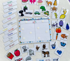Color Sorting Mat Shipped, homeschool activity, preschool, toddler activities