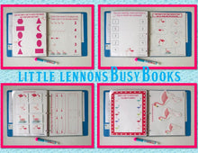 Flamingo Busy Book, Quiet Book, Personalized Dry Erase hands on activity book, busy bags, travel games, unique gift for girls, educational