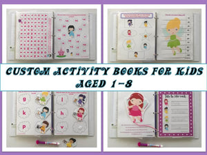 Fairy Preschool Dry Erase  Activity Book, Busy Book, Quiet Book, Travel Games, Educational Toy, Busy Bag, customized by age years 2+