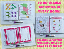 Camping Personalized Busy Book, Quiet Book, Dry Erase/ activity book, Preschool Learning, Educational Toy, kids ages 1-7, travel games
