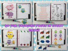 Owls, Fairies, ladybugs, animals Personalized Busy Book, Quiet Book, Dry Erase/ activities, Preschool, Educational Toy, kids ages 1-7
