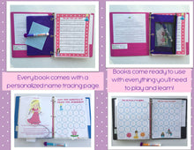 Preschool Princess Dry Erase Activity Book, Busy Book, Quiet Book, Customized Educational Workbook, Educational Toy, Teacher made, learning