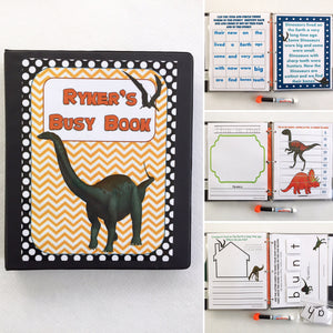 Kindergarten dry erase  activity book, Dinosaurs, Superheroes, quiet book, busy book, travel game, age 5-6, busy bag, educational toy