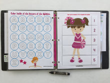 Cheerleading/Gymnastics Toddler Dry Erase  Activity Book, Personalized Busy Book, Quiet Book, Educational, age 1-4 years, travel game
