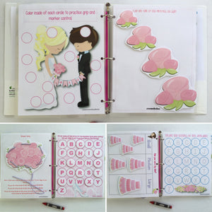 Flower Girl Dry Erase  Activity Book, Personalized Busy Book, Quiet Book, Flower Girl Gift, Educational Toy, wedding party gift, keepsake