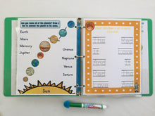 Solar System Personalized Busy Book, Quiet Book, Dry Erase activity book, kindergarten, custom, Educational Toy, prek, travel toys, learning