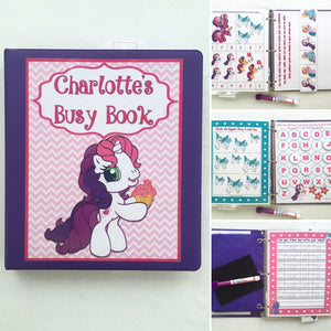 My Pony Activity Book/ Busy Book /Quiet Book /Dry erase Book / Games /Educational Toy /Customized/teacher made/pony gift/personalized/binder