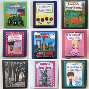 Combined Themes busy book, all ages, customized
