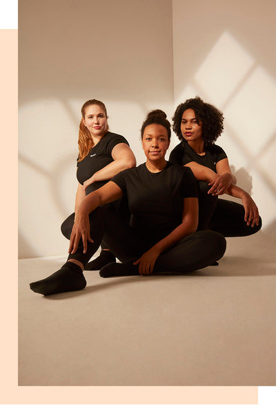 3 women in boldbabe activewear