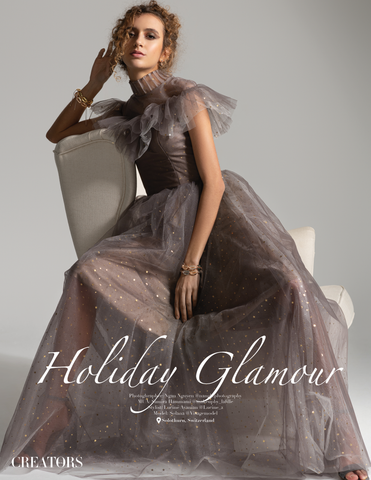 Holiday Glamour! First photo shooting for the fashion and lifestyle magazine CreatorsMag.