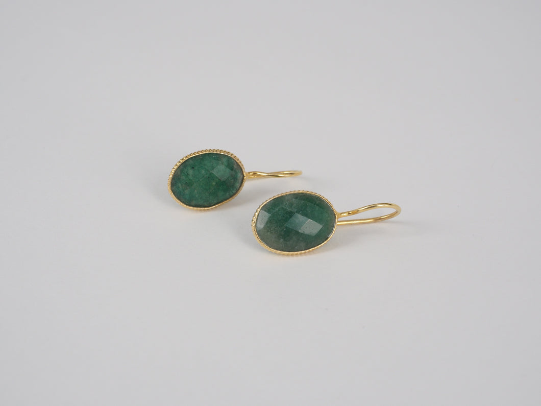 Earring Greenquartz