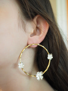 Earring Flower Circle