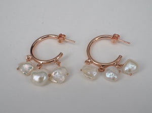 Earring Three Pearldrops