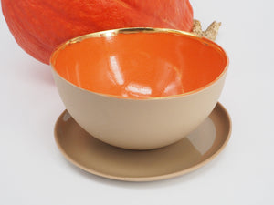 Bowl with saucer