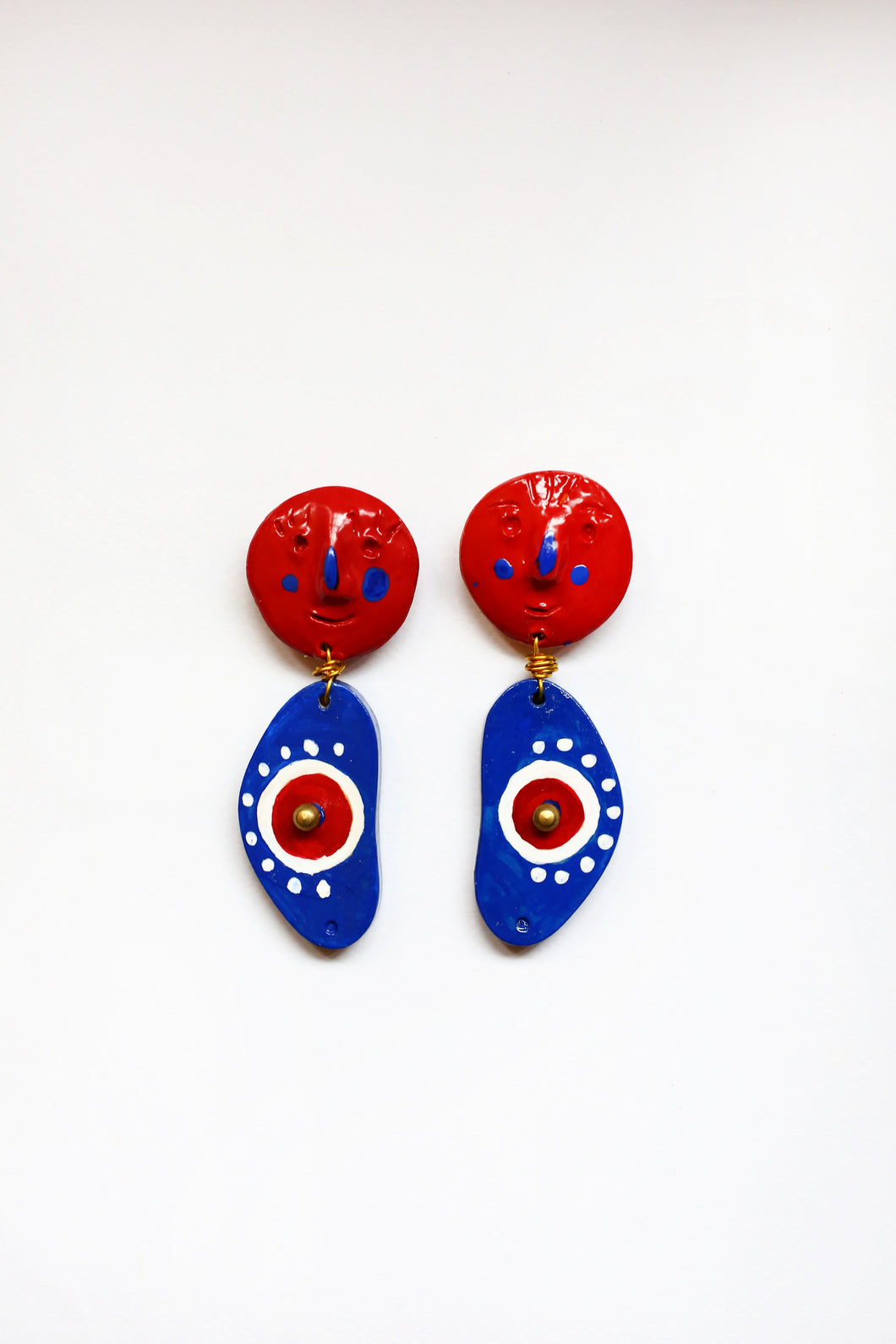 Earring Apple of my Eye and Red face