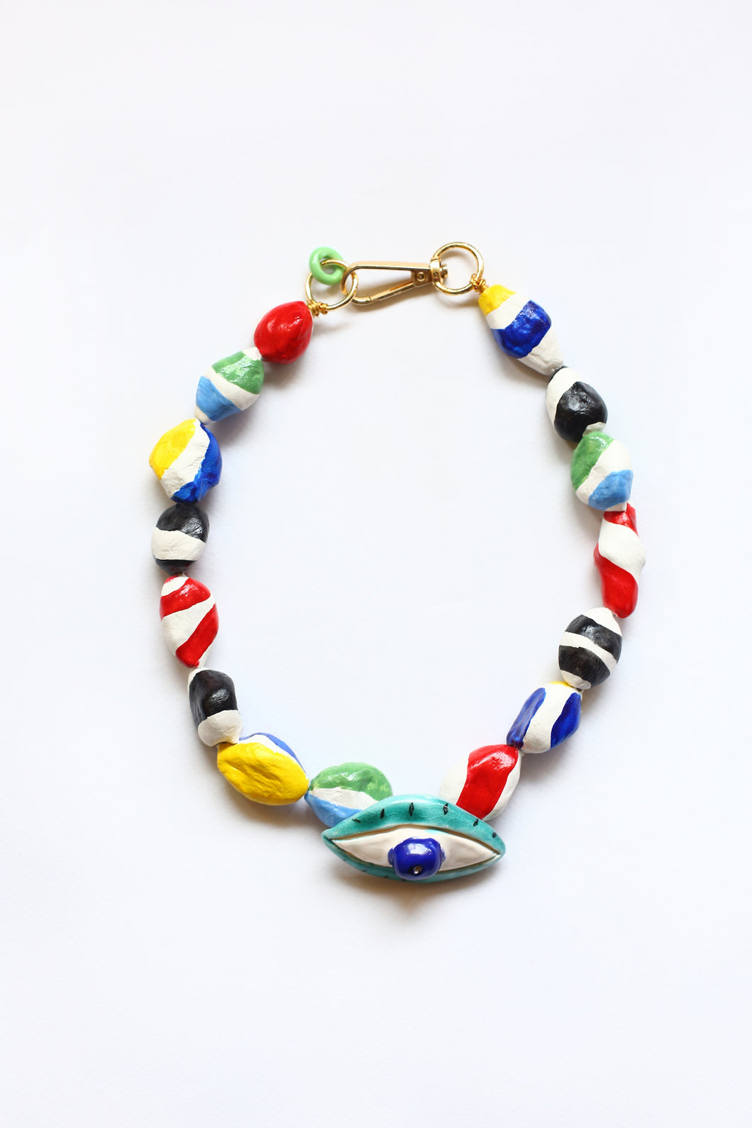 Necklace Apple of my Eye with Colored Beads