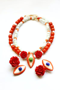 Necklace Evil Eye and the Rose