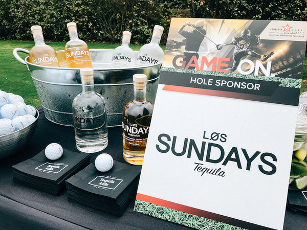 Los Sundays tequila at 2018 Athletes First Classic