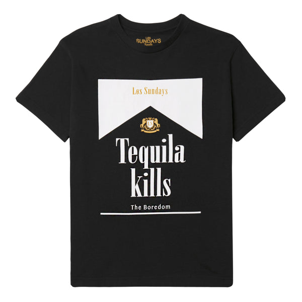 Los Sundays Tequila Kills black and white tee