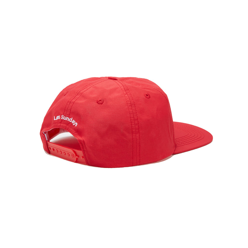 SUNDAYS 6-PANEL NYLON CAP - RED/WHITE