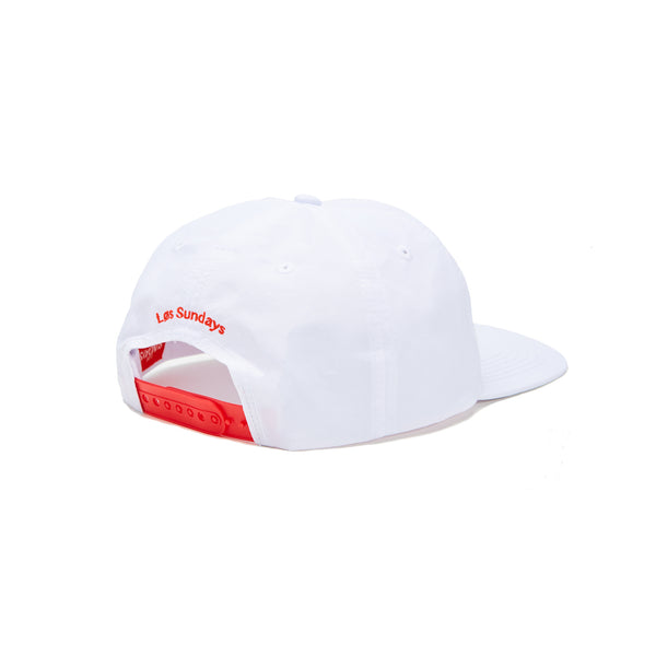 SUNDAYS 6-PANEL NYLON CAP - WHITE/RED