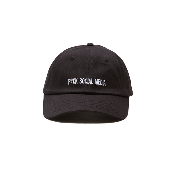 SOCIAL MEDIA DAD CAP - BLACK/WHITE