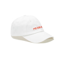 SOCIAL MEDIA DAD CAP - WHITE/RED
