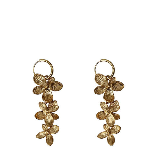 Three Flowers Earrings