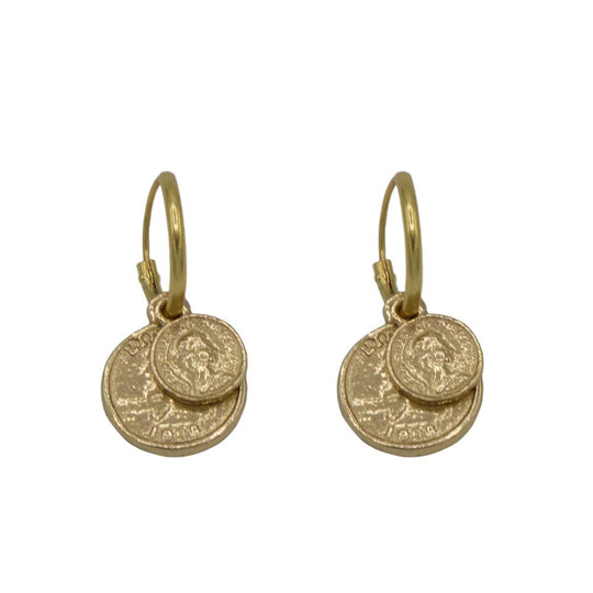 Small & Big Coin Earrings