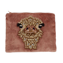 Load image into Gallery viewer, Velvet Pouch - Ostrich