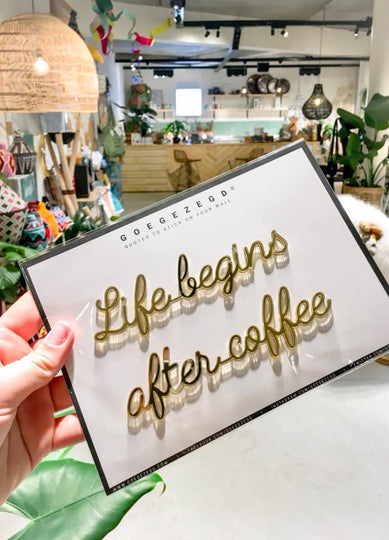 sticker quote - life begins after coffee