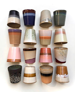 Ceramic 70's Mugs: Mix & Match