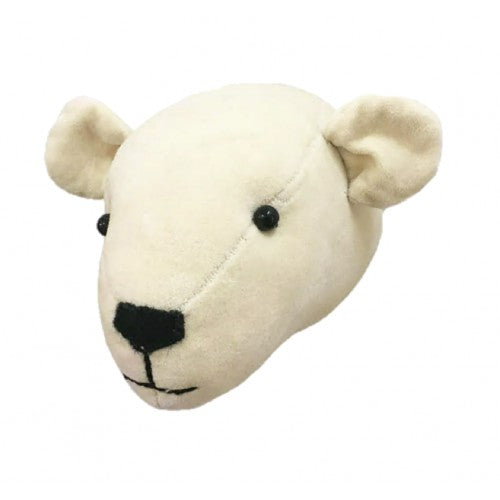 Mini Head - Velvet Polar Bear