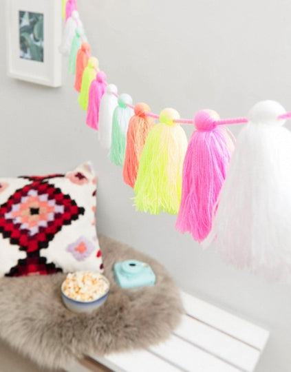 Pastel Colours Tassel Garland