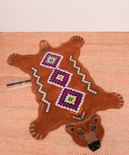 Large Berber Grizzly Bear Rug