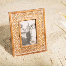Load image into Gallery viewer, Floral Carved Photo Frame