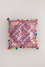 Load image into Gallery viewer, Sequined Gaddi Cushion