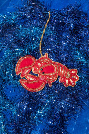 Lobster - Hand Embroidered Deco