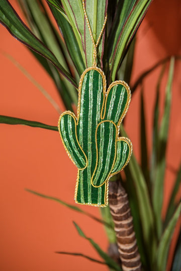 Cactus - Hand Embroidered Christmas Deco