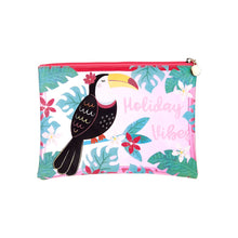 Load image into Gallery viewer, Tiki Toucan Holiday Pouch
