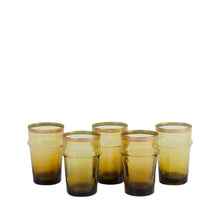 Load image into Gallery viewer, Set of 6 Mustard Beldi Glasses