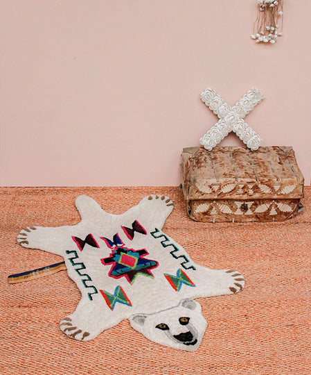 Large Kasbah Polar Bear Rug